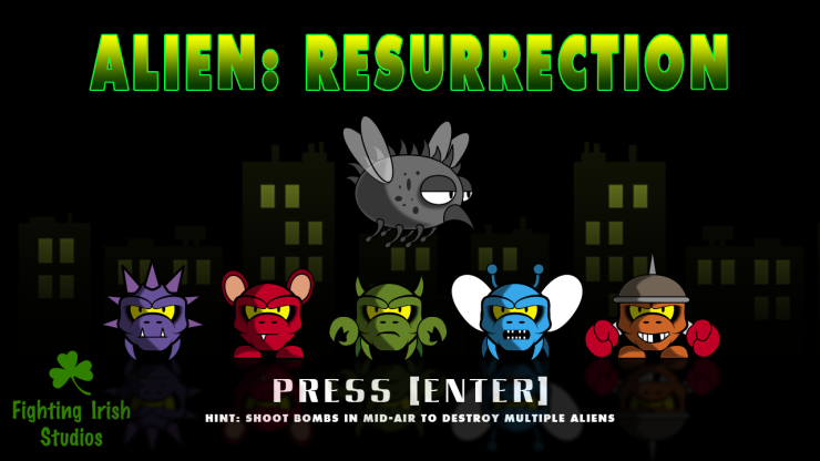 The Cosmic Explorer - Alien: Resurrection, mini-game