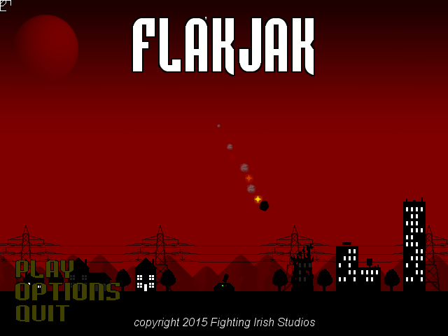 FlakJak Title Screen old version