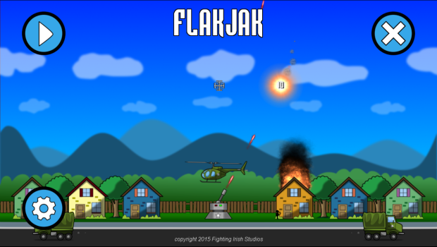 FlakJak Title screen - new