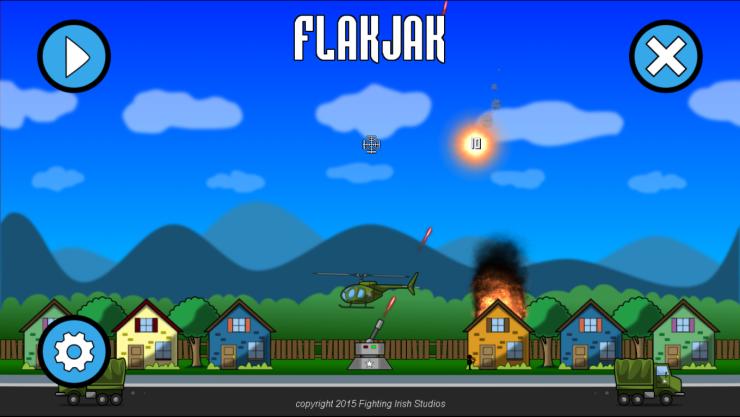 FlakJak Title screen - new
