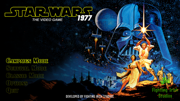 Star Wars 1977 The video Game Main Title Screen