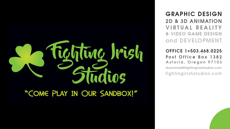 Fighting Irish Studios Business Card