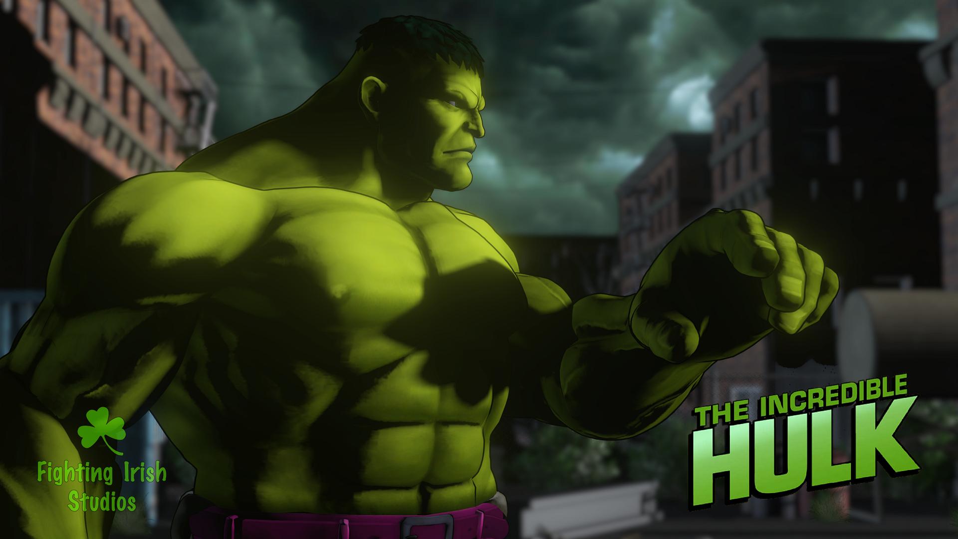 The Hulk-- 2D & 3D animation Services Fighting Irish Studios