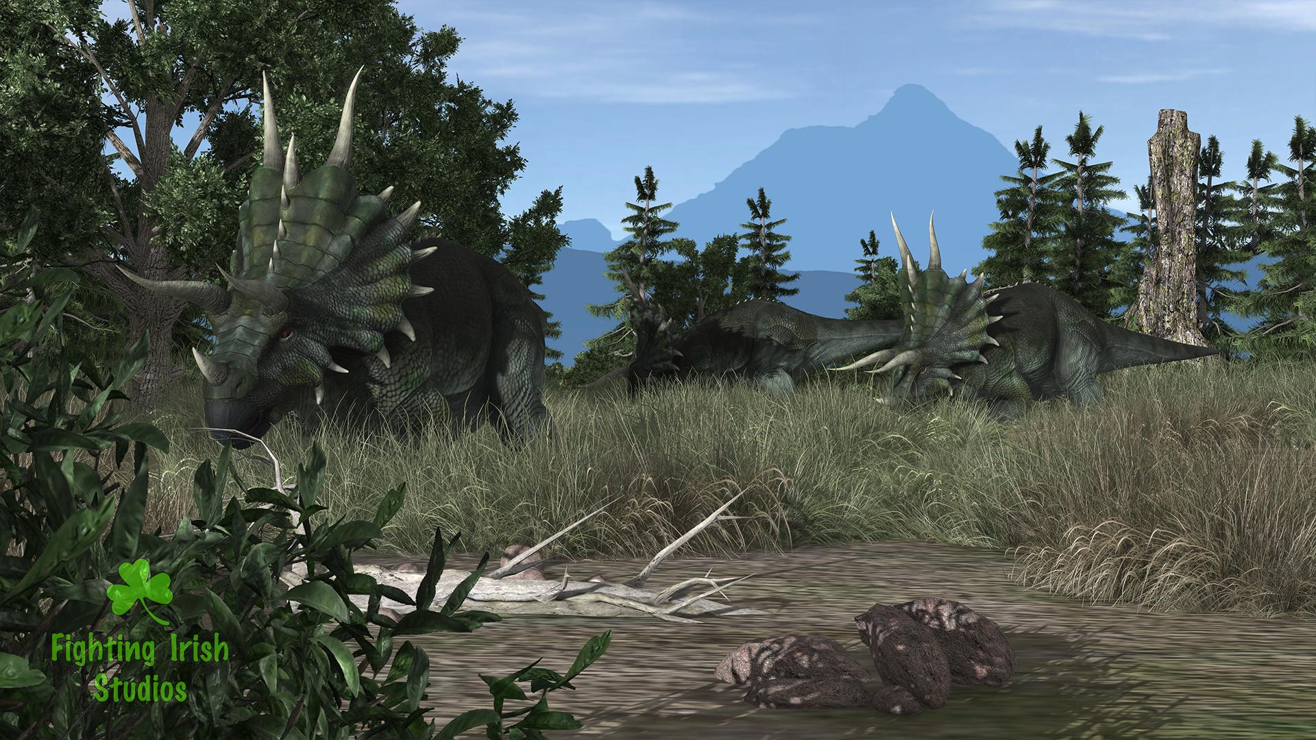 Dinosaur -- 2D & 3D animation Services Fighting Irish Studios